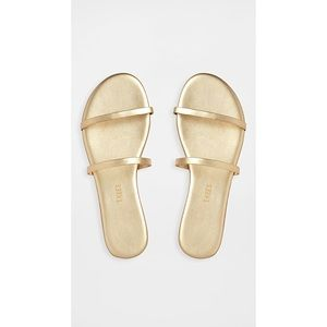 TKEES The Gemma Slides In Gold Size 10